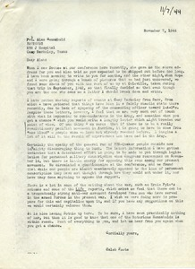 Letter from Caleb Foote to Alan Hennebold