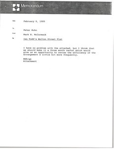 Memorandum from Mark H. McCormack to Peter Kuhn
