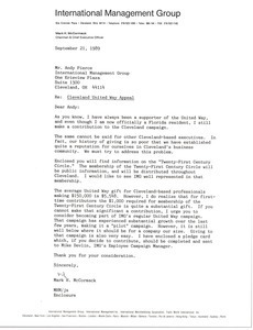 Letter from Mark H. McCormack to Andy Pierce