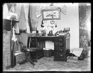 My corner and desk [dormitory room, South College], Massachusetts Agricultural College