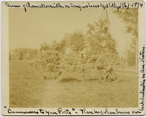 Guns of Chancellorsville on campus, Massachusetts Agricultural College