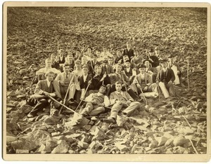 Massachusetts Agricultural College students on an excursion