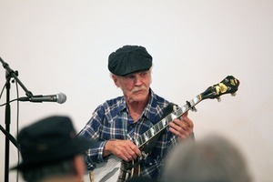 Bill Keith performing with Japanese musicians during Jim Kweskin Jug Band 50th anniversary tour