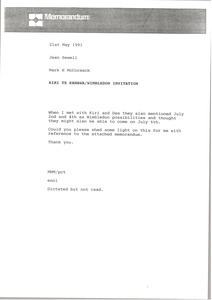 Fax from Mark H. McCormack to Jean Sewell