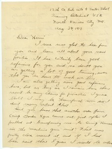 Letter from Claude Hubbard to Herman B. Nash