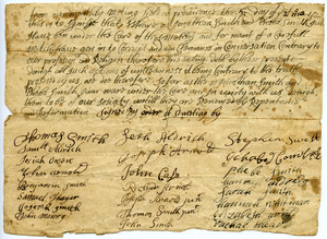 Providence Monthly Meeting certificate of disownment for Jonathan and Phebe Smith