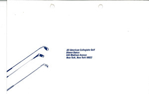 All-American Collegiate Golf Foundation return envelope