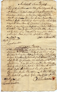 Receipt from Gershom Wilmarth to Moses Brown for purchase of Caesar