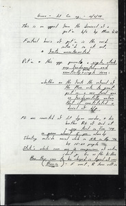 Daniel F. Featherston's notes for hearing in front of First Circuit court October 3, 1978