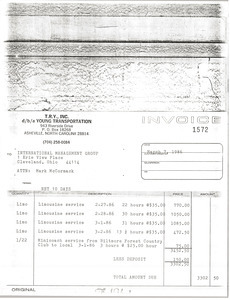 Young Transportation invoice