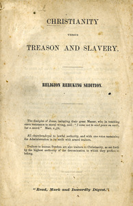 Christianity versus treason and slavery