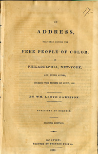 An address, delivered before the free people of color, in Philadelphia, New-York, and other cities, during the month of June, 1831