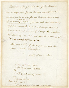 Charles Lamb letter to Charles Ollier