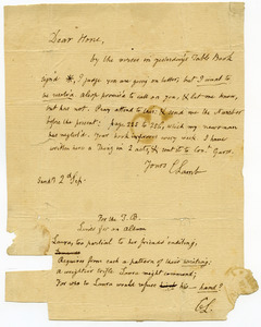 Charles Lamb letter to William Hone