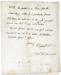 Charles Lamb letter to James Hessey