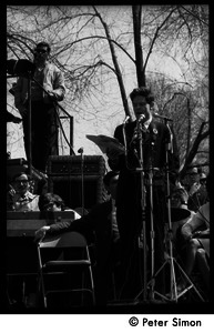 Resistance on the Boston Common: Staughton Lynd addressing the crowd