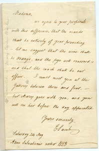 Charles Lamb letter to Mary Novello