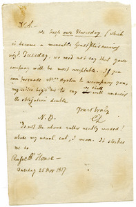 Charles Lamb letter to William Ayrton