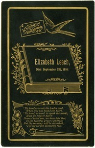 In loving remembrance / Elizabeth Leach