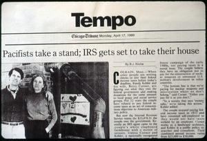 Pacifists take a stand; IRS gets set to take their house