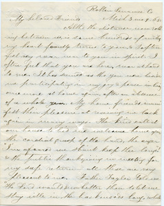 Letter from Elizabeth L. Comstock to unidentified recipient