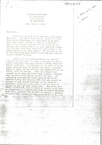 Letter from Colin MacLaine to Mark H. McCormack