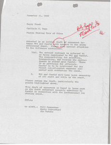 Memorandum from Carlisle S. Page to Barry Frank