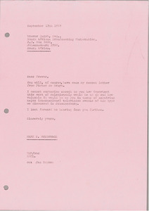 Letter from Mark H. McCormack to Trevor Quirk