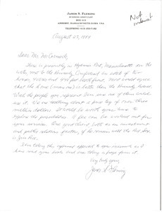 Letter from James S. Fleming to Mark H. McCormack