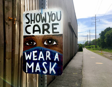 'Wear a mask' sign--Northern Strand Trail, 2020