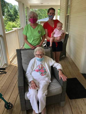 Virginia Ruane with four generations