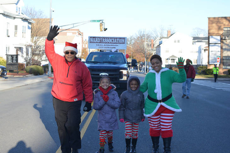 Leading the Malden holiday parade