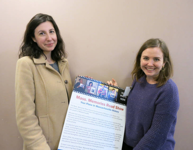 Ana Roeschley and Jessica Holden at the Plymouth Mass. Memories Road Show