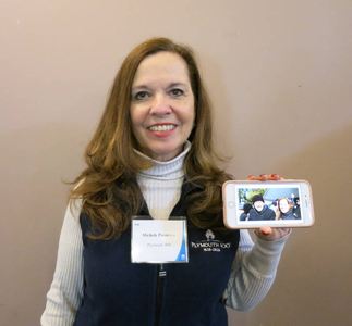 Michele Pecoraro at the Plymouth Mass. Memories Road Show