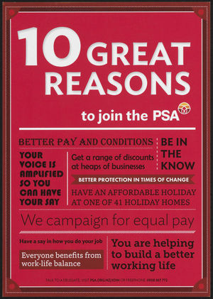 10 great reasons to join the PSA