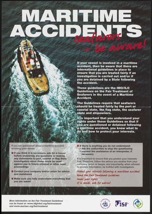 Maritime Accidents : Seafarers be aware!