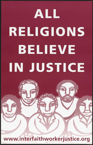 All religions believe in justice
