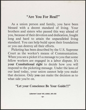 Are you for real? : Let your conscience be your guide!