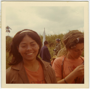 Lourdes Chateloin and Dulce, Cuban women who worked with Brigade #6