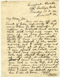 Letter from Walter M. Dickinson to Joseph B. Lindsey