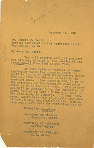 Letter from W. E. B. Du Bois to U.S. War Department