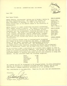 Circular letter from AmDans Theatre