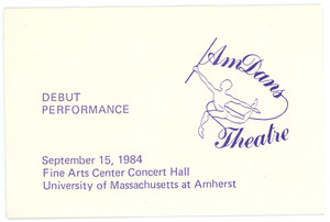 AmDans Theatre debut performance card