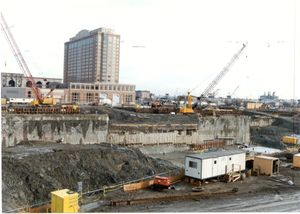 Central Artery/Third Harbor Tunnel Project construction, 1998