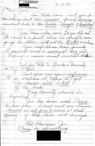 Letter from a South Boston constituent to John Joseph Moakley regarding busing, 19 October 1974