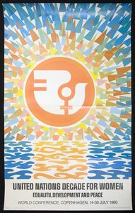 United Nations Decade for Women: Equality, Development and Peace, Copenhagen World Conference poster