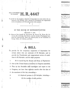 H.R. 4447, A bill to provide for temporary suspension of deportation for certain aliens who are nationals of El Salvador