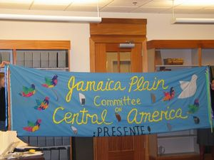 Jamaica Plain Committee on Central America banner