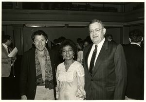 Israel Horowitz, Ruby Dee, and Fred Wilkins at a tribute to Eugene O'Neill at the Eugene O'Neill Conference