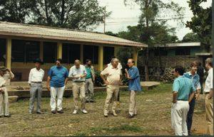 John Joseph Moakley, James P. McGovern and others in El Salvador during the Jesuit priest murder investigation, 1991